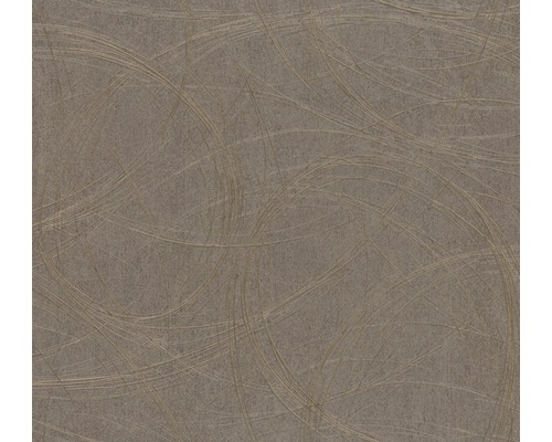 Papier peint intissé Colani VISIONS Motif métallique brun
