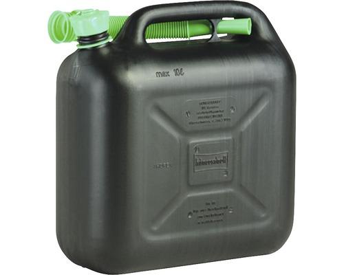 Bidon pour carburant avec tube 10l noir
