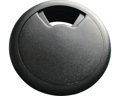 Passage de câble 80 mm noir