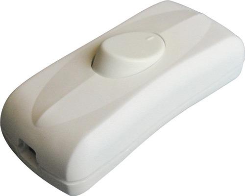 Interrupteur 2 pôles pour câble rond H03VVH2-F blanc