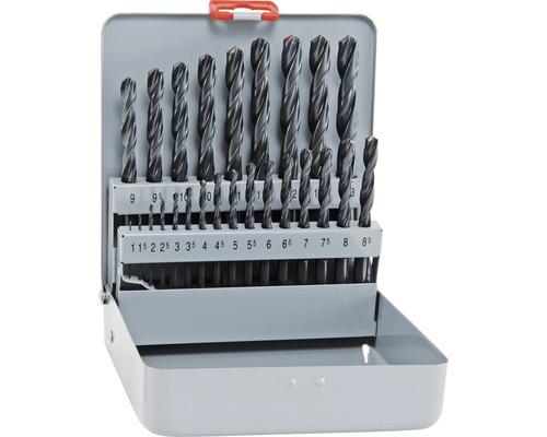 Forets à métaux HSS Cobalt kit Alpen 25 pcs