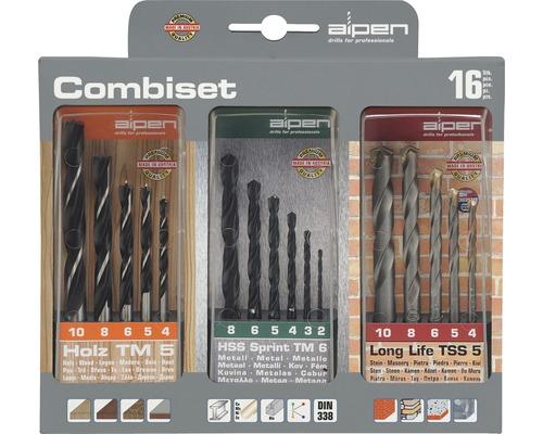 Kit de forets combinés Alpen 16 unités