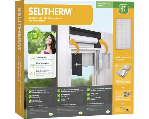 Kit d'accessoires pour isolation de caisson de volet roulant Selitherm 13 mm