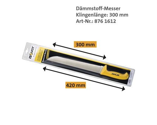 Couteau pour matériau isolant ISOVER avec lame ondulée 300mm