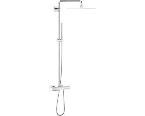 Duschsystem GROHE Rainshower F-Series System 254 27469000 chrom mit Thermostat