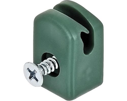 Supports pour fils de tension avec vis, 10 unités, vert