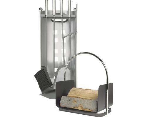 Serviteur de cheminée anthracite 5 pcs.