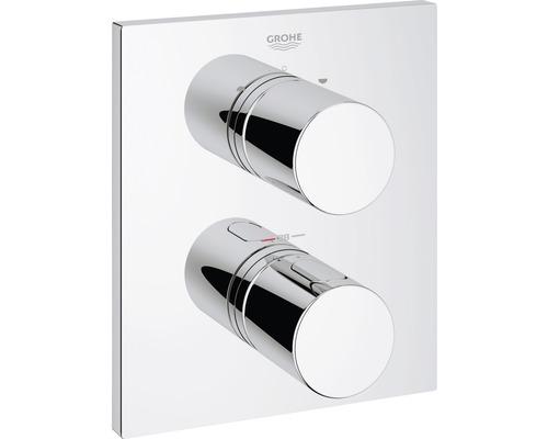 Thermostat Grohe Grohtherm 3000 C avec permutation 2 voies intégrée pour baignoire ou douche avec plus d'un pommeau 19567000