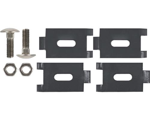 Cornières d''assemblage pour grille, avec vis, 2 pièces, anthracite