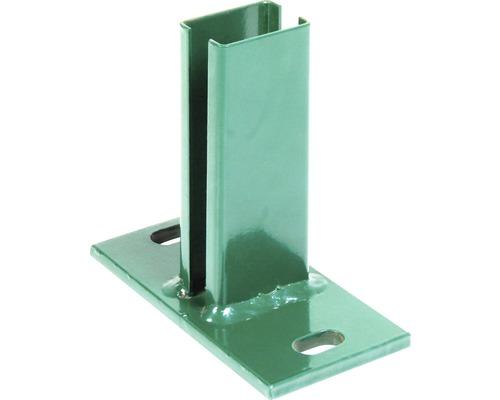 Support de poteau pour poteau de clôture à grillage double, 60x40mm, vert