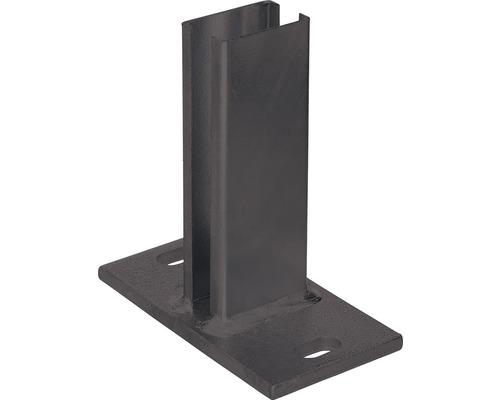 Support de poteau pour poteau de clôture à grillage double, 60x40mm, anthracite