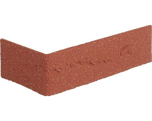 Angle pour plaquette de parement rouge 24x7.1cm Elastolith