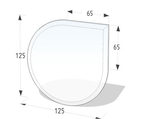 Plaque de protection contre les étincelles en verre 125x125 cm