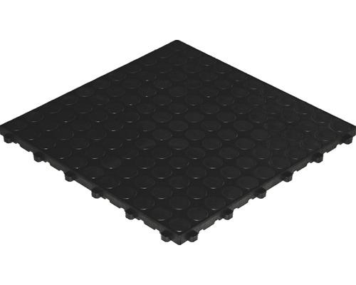 Dalle à clipser en plastique florco spot, 40 x 40 cm, noir