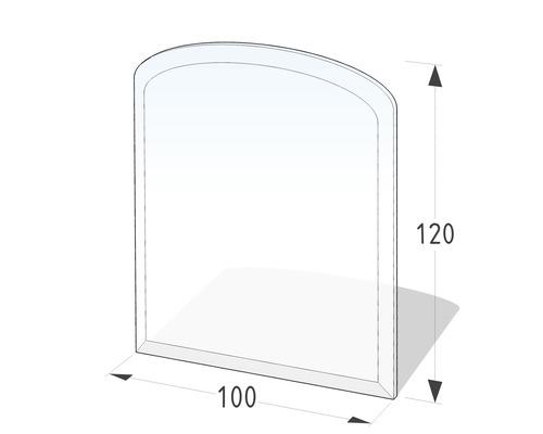 Plaque de protection en verre contre les étincelles arc segmenté 120x100 cm