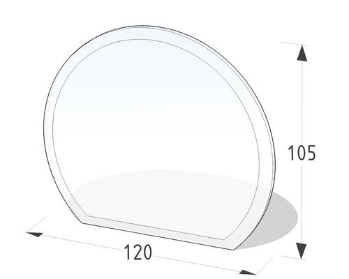 Plaque de protection en verre contre les étincelles 120x105 cm
