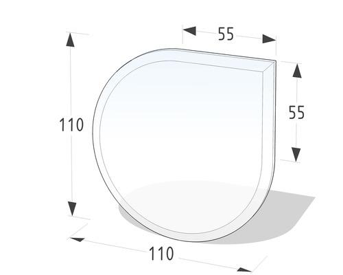 Plaque de protection en verre contre les étincelles 110x110cm