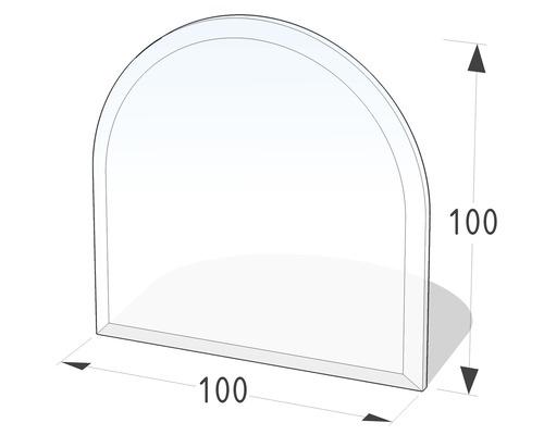Plaque de protection en verre contre les étincelles semi-circulaire 100x100 cm