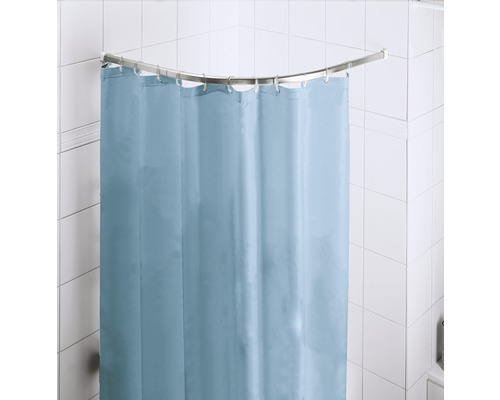 Barre de douche angle droit Kleine Wolke chromé 90x90cm Ø 25mm