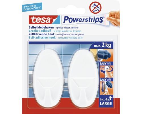 Crochets Tesa de forme ovale blancs