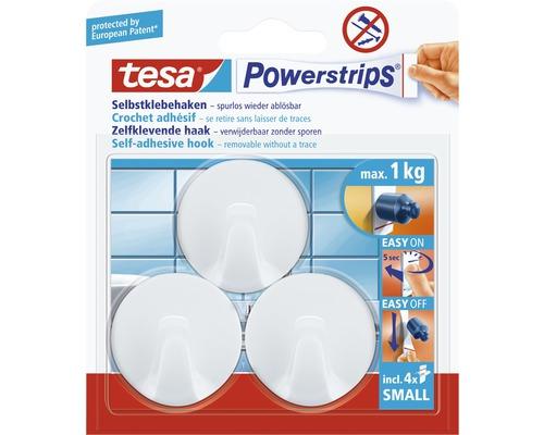 Mini-crochets Tesa ronds blanc
