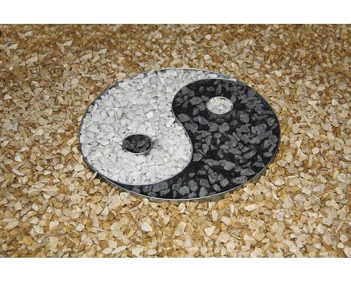 Forme métallique Ying et Yang