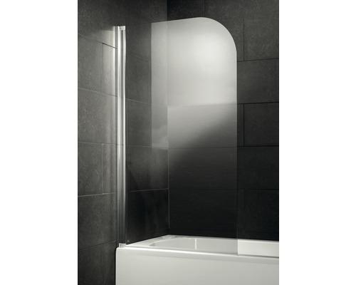Pare-baignoire New Tahiti deluxe 1 partie verre véritable transparent clair aspect chrome