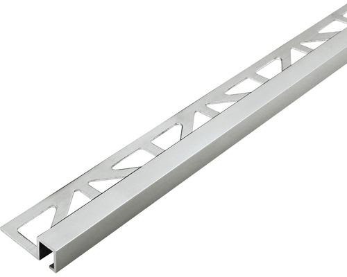 Profilé décoratif Squareline titane 9mm longueur 250 cm