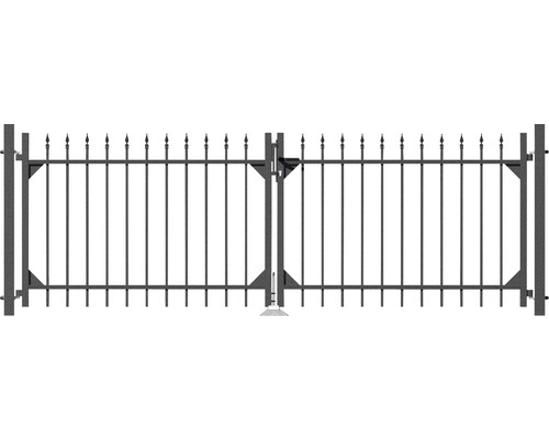 Portail double Chaussee 301x100cm, anthracite