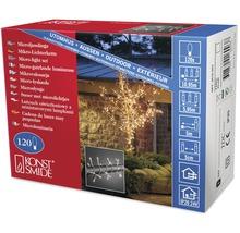 Guirlande lumineuse Micro Konstsmide 120 ampoules, blanc chaud, câble transparent-thumb-1