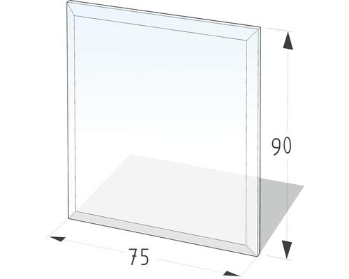 Plaque de protection en verre contre les étincelles 90x75 cm