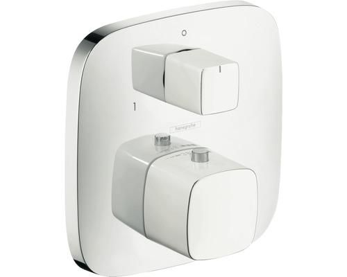 Thermostat encastré hansgrohe PuraVida avec robinet d''arrêt et inverseur 15771400