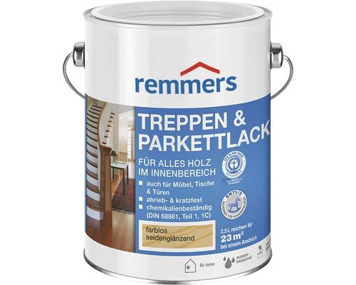 Laque pour parquet et escaliers Remmers mat satiné incolore 750ml