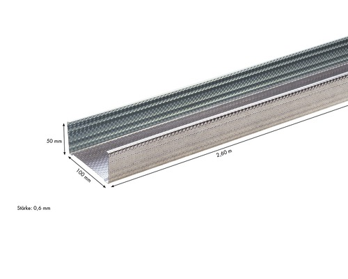 CW-db Profilé de support KNAUF 100x50 mm longueur : 2.60 m