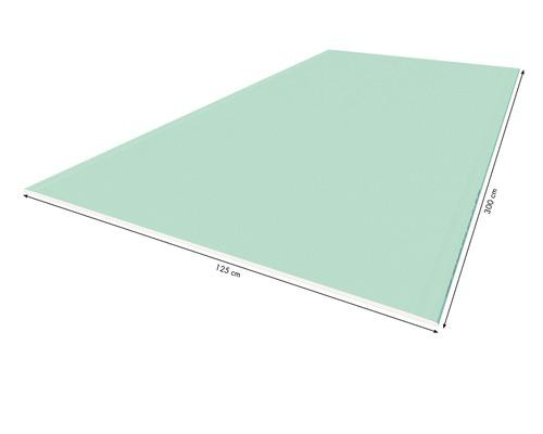 Plaque de plâtre imprégnée KNAUF GKBI 3000x1250x12,5mm, le panneau pour pièce humide