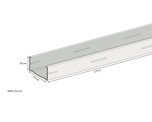 Profilé de support CW KNAUF 2750 x 75 x 50 mm