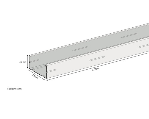 Profilé de support CW KNAUF 4500 x 75 x 50 mm