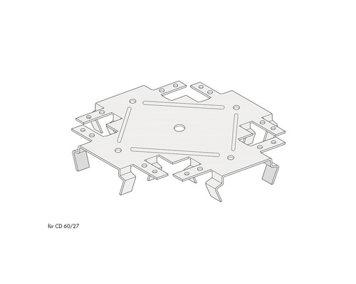 Raccord de niveau KNAUF pour CD 60/27-0