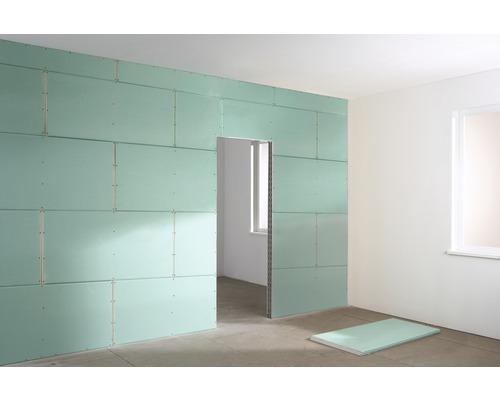 Plaque de plâtre imprégnée KNAUF Miniboard GKBI 1200 x 600 x 12,5 mm, le panneau pour pièce humide