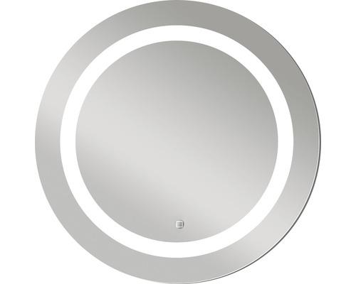 LED Badspiegel Silver Sun mit Alurahmen Ø 59 cm IP 24 (spritzwassergeschützt)