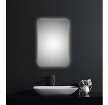 LED Badspiegel Silver Moon mit Alurahmen 40x60 cm IP 24 (spritzwassergeschützt)-thumb-1
