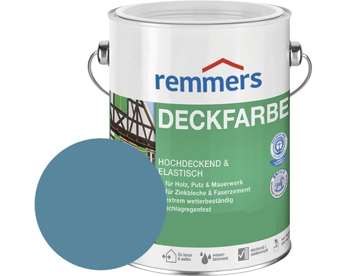 Remmers Deckfarbe Holzfarbe friesenblau 2,5 l