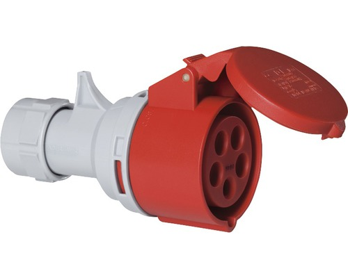 Raccord CEE PCE 16A IP44 5 pôles rouge