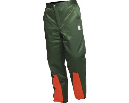 Pantalon avec protection anti-coupure vert/orange taille 48