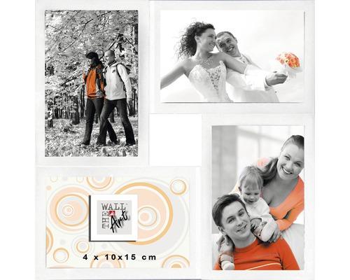 Cadre multivues Malte 4 photos blanc 30x30 cm