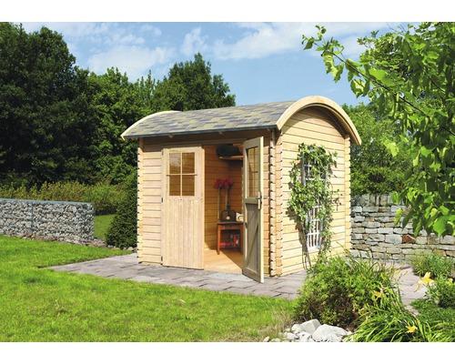 Abri de jardin Konsta à toit bombé 3, 280x280 cm, naturel - HORNBACH ...