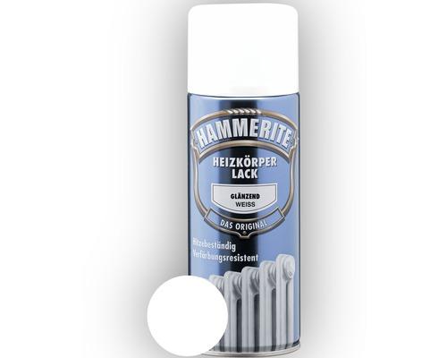 Laque acrylique pour radiateurs HAMMERITE blanc brillant 400ml