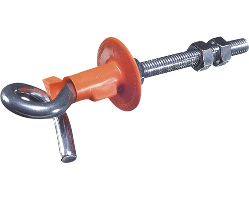 Crochets de balançoire avec filetage métrique 12x180mm, lot de 5