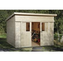 Schiebetürhaus weka Lugano 1 mit Fußboden 295x209 cm natur ...
