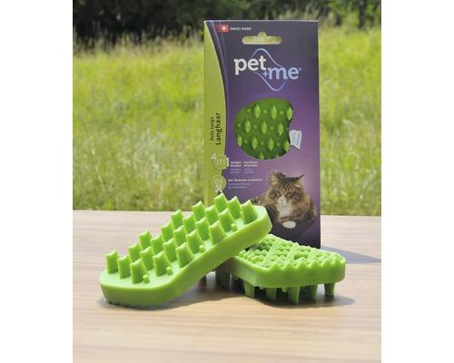 Brosse pour chats Pet + me Poil long, verte